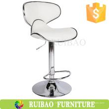 Mobiliario profesional Taburete de cuero para bar Taburete industrial / giratorio industrial ajustable