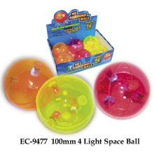 100mm 4 Light Space Bounce Ball