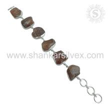Efficacious sunstone silver bracelet jewelry 925 sterling silver bracelets jewellery exporter