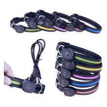 LED collier pour animaux de compagnie, collier de chien imperméable rechargeable USB collier clignotant réfléchissant taille réglable allumer la nuit