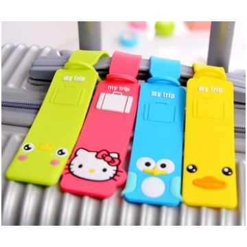 Promotional Cartoon Creative Silicone Baggage Tag, Personalized Luggage Tags