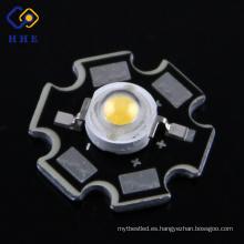 Tipo de estrella de chip Bridgelux de alta potencia 1W / 3W LED