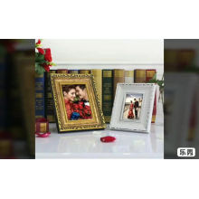 Factory customize white gold  table standing photo frame
