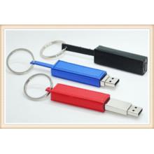 Schwarzes neues Leder Keychain USB-Blitz-Antrieb (EL014)