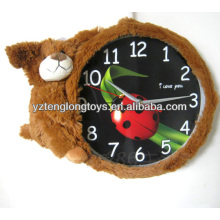 promotional creative and soft plush bear clock gifts for children