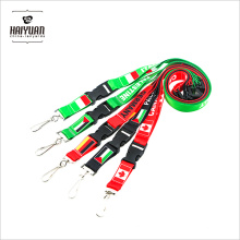 Sublimation Neck Lanyard Custom Logo PVC Card Holder in Red and White
