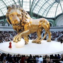 Décor de jardin antique en plein air bronze grand lion statues à vendre