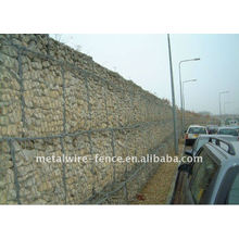 Galvanizado e PVC revestido Gabion Fence