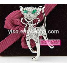 Broche en cristal animal de mode pour cadeau promotionnel