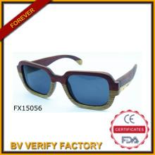 Moda 2015 irregularidade óculos de madeira (FX15056)