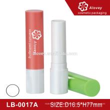 Best-seller plástico redonda bálsamo labial, tubo de bálsamo para os lábios, tubo de batom