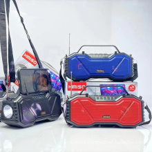 KIMISO KMS-137 Speakers Audio Portable Trolley Speaker Home Theatre System Wireless Microphone Speaker With LED Light