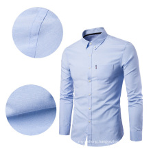 Fashion Designer High Quality Solid Male Clothing Fit Business Shirts