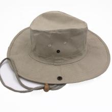 Stylish custom cowboy designer bucket hats with string cheap cotton safari sunhat fishing hat for adults