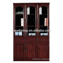 Adjustable wooden file/book shelf hot sale office wooden book shelf design for MDF + Paper finishing (T8043)