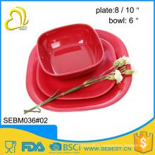 logo personnalisé conçoit mélamine bol et assiette vaisselle en bambou