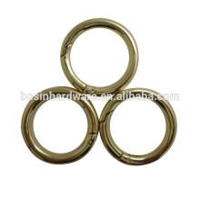 2015 Venda quente nova luz de ouro anel redondo para bolsa