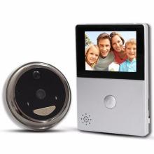 timbre video del anillo de Wifi del color blanco y negro con las cámaras y monitor de pantalla hd de 2.8inch
