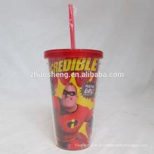 haute qualité belles tasses en plastique épais