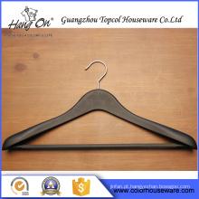 Gancho plástico de luxo estilo comum de ombro largo para roupas