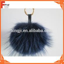 Handbag Accessory Raccoon Fur Pom Pom Keychain