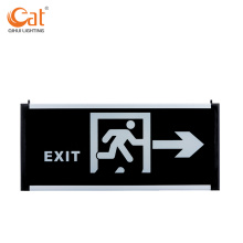 Glass indicator sign with LED