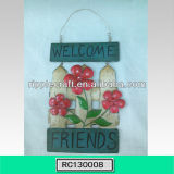 Beautiful Welcome Metal Wall Decoration