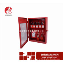 Wenzhou BAODI Combination Lockout Tagout Station Center Lock Filling Cabinet of 10 Locks Red color