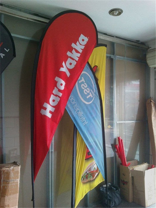 Färg Sublimation Printing Teardrop Flag Banner