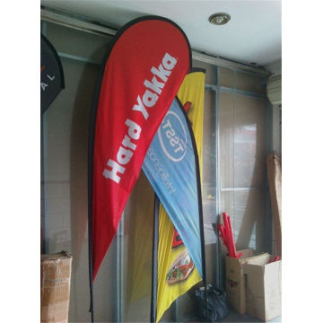 Farbstoff-Sublimationsdruck Teardrop Flag Banner