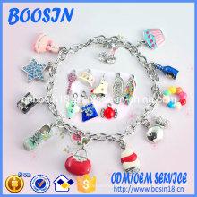 Bracelet chaîne Fashion Factory avec breloque pour enfants