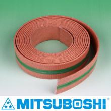 Cinturão plano de cinto Mitsuboshi para máquinas têxteis e agrícolas. Feito no Japão