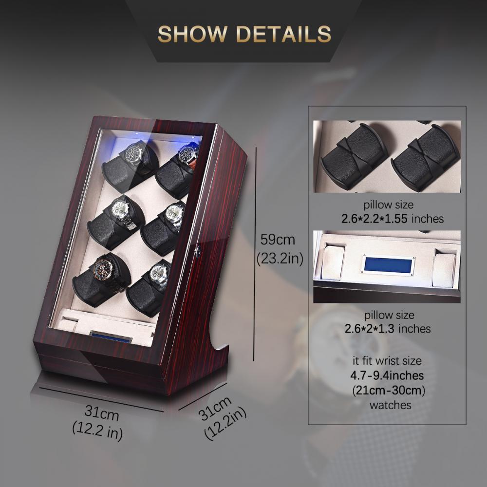 Tg 04ts High Gloss Piano Finish Watch Winder Details