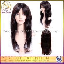 Para afro-americanos preto extra longo afro perucas de cabelo liso