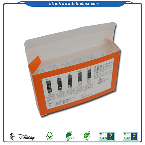 Medicine packaging box with PVC window