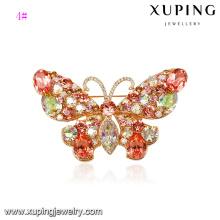Cristales de la joyería de moda 00064-xuping de Swarovski, broche de mariposa de colores, broche de cristal