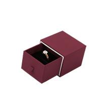 Конструкция ящика коричневый картон бумага кольцо Коробка ювелирных изделий оптом (ВХ-ББ-ПР1)