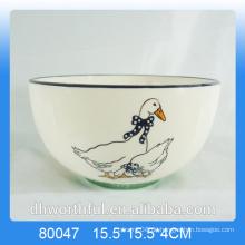 Großhandel Decal Ente Keramik Schüssel für Geschirr