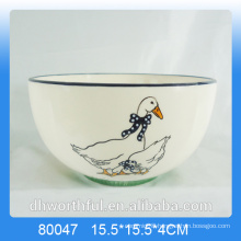 Wholesale decal duck ceramic bowl for kitchenware