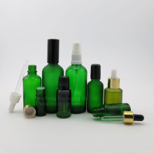 Green glass round essential oil and perfume bottle 100ml