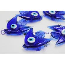 Glass Evil Eye Fish Good Luck Charms with Evil Eye