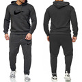 Men's Tracksuit Hooded Fitness Sport Suits