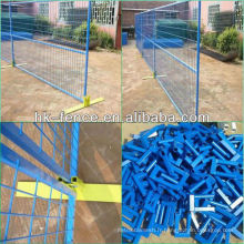 Clôture de construction temporaire enduite de PVC de la vente chaude 6x9.5ft Canada