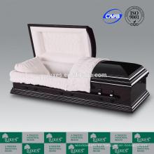 LUXES estilo americano Orson cremación ataúd ataúd por mayor de cama