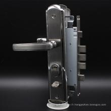 Serrure de sécurité à trois verrous et verrou de sécurité avec cylindre profilé Euro et poignée à clé à mortaise