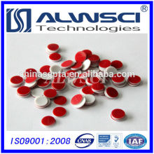Slited 8mm Red PTFE Silicone Septa