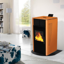 Modern Design Wood Pellet Stove with Yellow Color