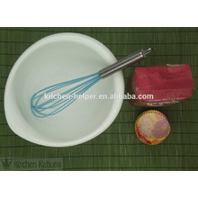 Non-toxic eco-friendly silicone beater with metal handle