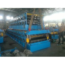 5.5KW Motor Power Double Layer Roll Forming Machine PLC Pan