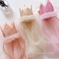 Glitter Queen Crown Veil Headband Festival For Kids Girl Children's Party Birthday Hair Accessories Princess Sweet Hairband